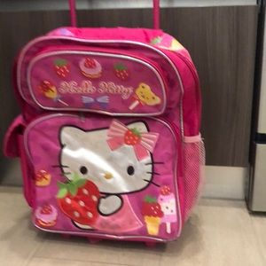 Hello kitty suitcase backpack